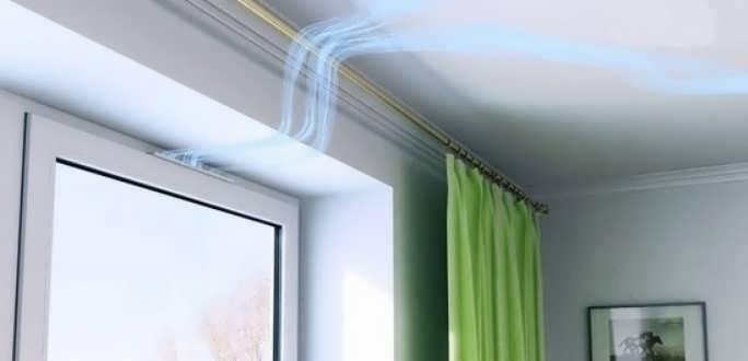 Вентиляционный клапан в оконной раме